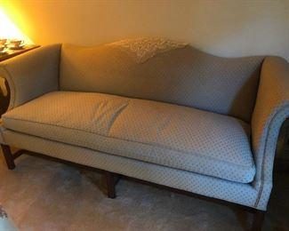 Hickory Chair Camel Back Sofa