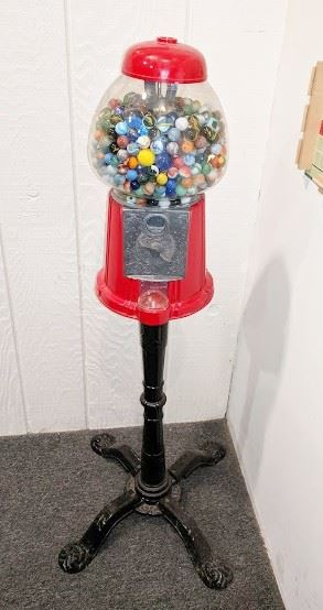 Marbles (mostly vintage) in gumball machine