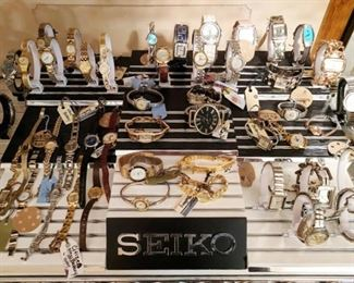 Pay no attention to the Seiko sign, just a display I purchase when Sears closed... there are some nice high end watches here.