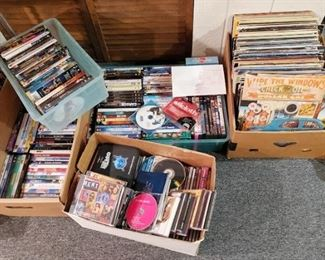 Records and DVD's $2, cd's $1