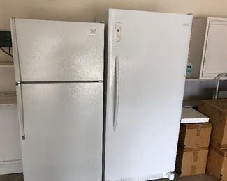 Frig and upright freezer