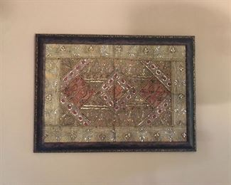 Framed Wedding Sari from India