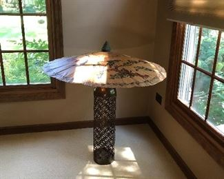 Umbrella open from Bangkok. Is this why its raining so much?  Do you believe that when you open an umbrella in the house it means bad luck or rain, answer on facebook under Chicagoland Paxem estate sales  for an  immediate 10% off any one item