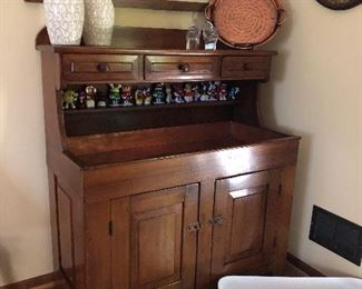 Wet bar/wash stand copper lined from Lancaster Pennsylvania 43w x 50h x 21d