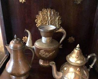 Copper tea and coffee set