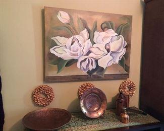Floral decor art and Copper decor