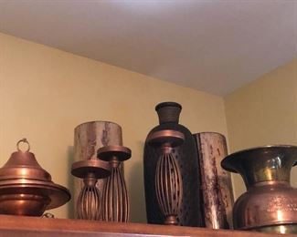 More Copper decor, candle holders and more