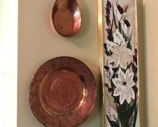 Copper wall hanging and decor art