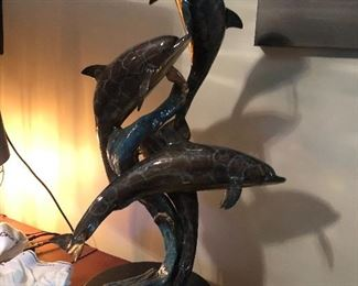 Dolphin Bronze Sculpture by Tim Lester