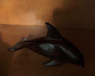 Iron wood dolphin figurine