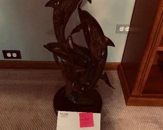 Heavy Bronze Brass metal sculpture by David Merril