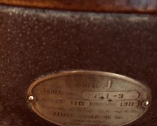 Graybar Electric Company Antique Copper Model J Series 9351-g