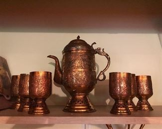 Copper Coffee service