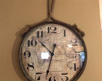 Oversized Map Wall Clock