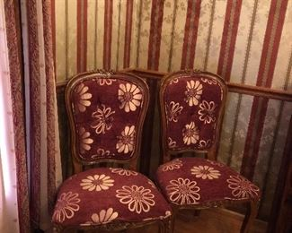Pair of Upholstered Chairs for the head and foot of any Teak table