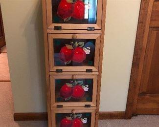 15w x 43h x 11d Apple hutch