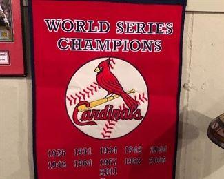 World Series St. Louis Cardinals Champions Banner