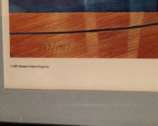 Indiana Coach Bobby Knight signed and Numbered 847/1987