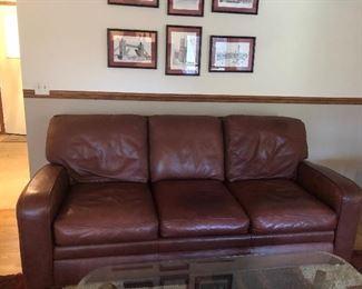 Sherill Furnishings Leather sofa