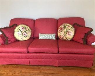Sofa Pretty in Pink