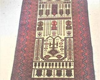 Decorative Rug Red, Brown, Cream https://ctbids.com/#!/description/share/274916