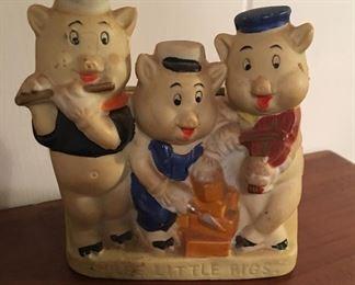 "Walt Disney ""Three little pigs"" tooth brush holder"