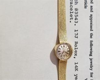 womens gold Rolex watch