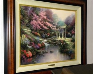 "Thomas Kinkade ""Pools of Serenity"" Signed Limited Edition Canvas"