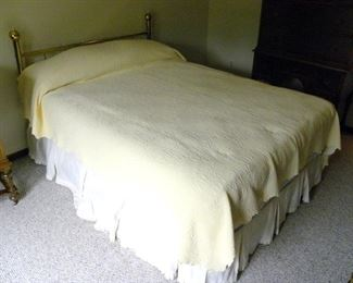 Brass Headboard & Mattress Set