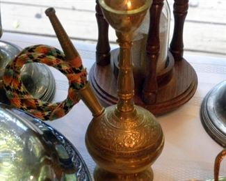 Indian Brass Hookah