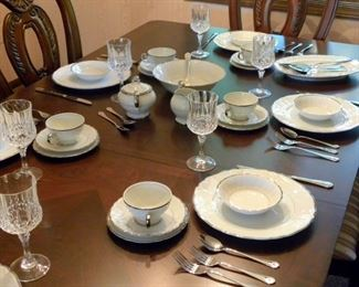 Fine China Dinner Set - Silver Sonata
