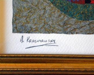 A. Krasnansky Serigraph
