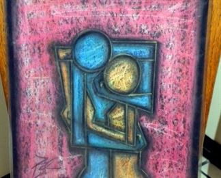 Original Signed Chalk Art