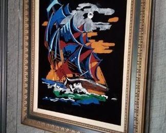 60's-70's Painting of Velvet
