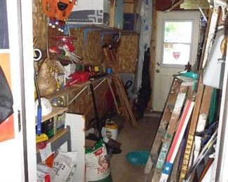 assorted  ladders /Garden items