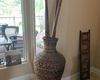 4 foot wicker vase