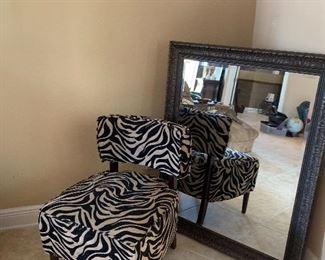 Leopard cloth chair