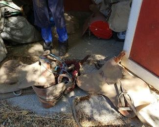 Saddles and other barn supplies available.