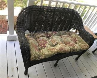 Resin Wicker Loveseat with Cushion $ 66.00