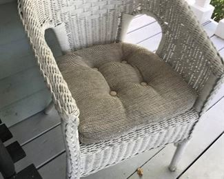 White Wicker Chair $ 48.00