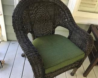 Resin Wicker Chair $ 58.00