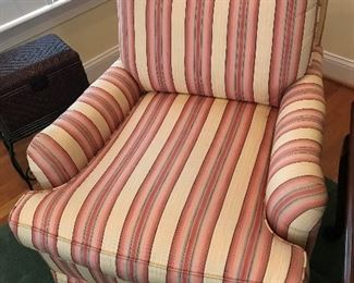 Striped / Upholstered Chair $ 74.00