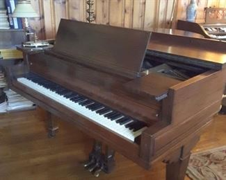 Beautiful Conservatory Grande piano. Originally owned by Barron G Collier, founder and developer of Radium Springs in Albany. Circa 1920s, 30s. Was used in the historic Hotel and Casino to entertain guests.