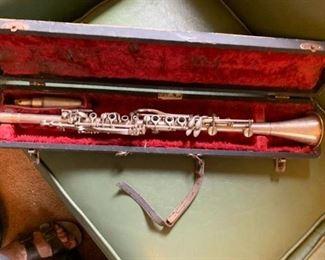 Vintage metal clarinet