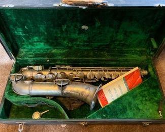 vintage saxaphone