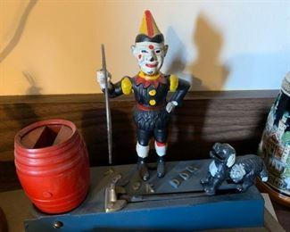 vintage mechanical trick dog bank