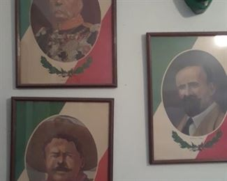 Three important men in Mexico's history.