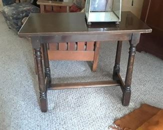Simple side table is priced to sell.