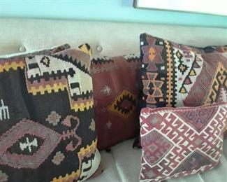 There are interesting older woven pillows