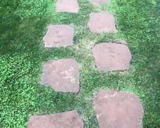 54 precast stepping stones